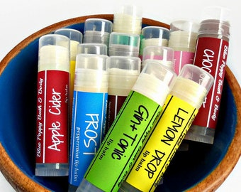 Lip Balm 3 Pack, Handmade Lip Balm, Your Choice of Flavors, Teacher Gift, Natural Chapstick, Stocking Stuffer, Gift Exchange