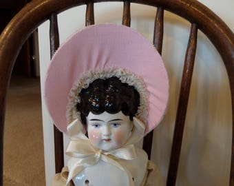 Vintage Doll Bonnet Hat Hand Made