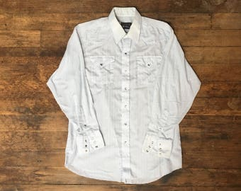 VTG Panhandle Slim Western Shirt - XL - Cowboy Shirt - Rockabilly - Vintage Clothing - Blue -