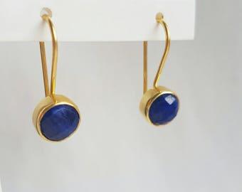 Dyed Blue Saffier earrings