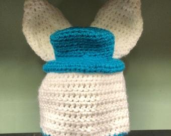 Crochet easter bunny boy or girl beanie