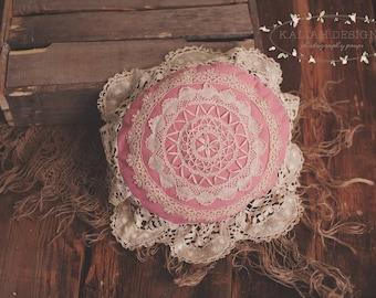 Vinatge, Organic, Posing Pillow, Photography Prop, Newborn, Newborn Girl, Lace