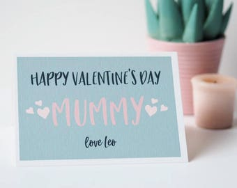 Personalised Valentines Day Card for Mummy- Valentines Card for Mum - Mummy Valentines Day Card - Valentines Card - Personalised Card