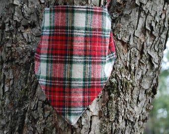 Holiday plaid snap bandana