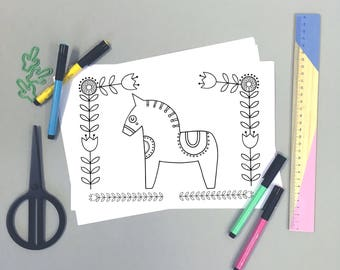 Downloadable Coloring Sheet, Printable Coloring page, Activities for Kids, Colouring In Page, PDF Instant Download