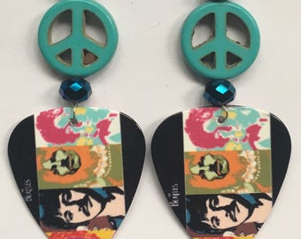 1 Pair Beatles Guitar Pick Earrings