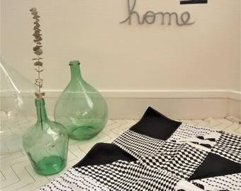 Couverture pour bébé - geometric - black and white - birthday gift
