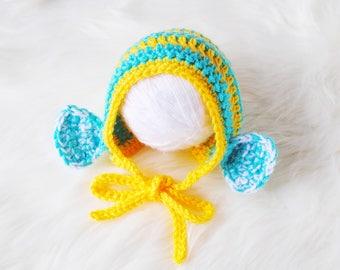 Newborn Girl Hat, Newborn Bonnet, Newborn Cute Gift, Flounder Costume, Newborn Halloween Costume, Baby Halloween Costume, Baby Shower Gift