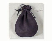 Suede Pouch, 6 x 8-inches, Dark Brown, Old Fashioned Quality Drawstring Pouch,Heavy Duty Suede Bag for Storing, Collecting, Special Presents