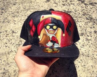 Handpainted Harley Quinn Hat