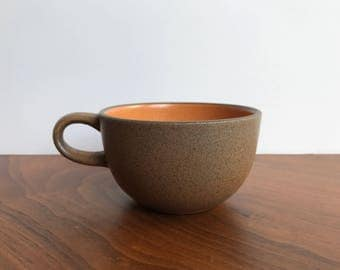 Vintage Heath Ceramics Coupe Tea Cup in Pumpkin Glaze