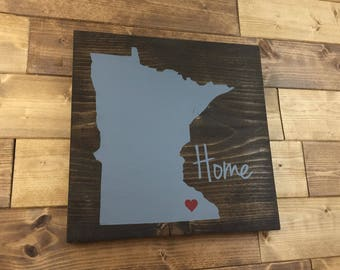 Pick Colors, Minnesota Wood Sign, Minnesota Home Sign, Minnesota Sign, Minnesota decor, Minnesota art, Minnesota Guest book, wood signs