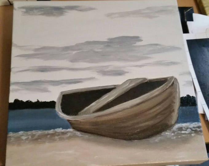 Twilight - Oil Painting - Minimalist - Nautical