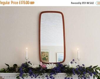 SALE Vintage Danish Teak Mid Century Modern Wall Mirror Antique Mirror Vintage Mirror Atomic wooden Framed mirror  M215