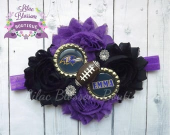 Baltimore Ravens Personalized Baby Headband, Ravens Football Baby Bow, Ravens Infant Headband, Ravens Baby Outfit, Ravens Baby Girl