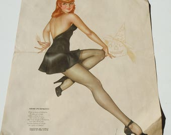 Varga Girl Pin-up / Esquire Magazine / Authentic Condition....not a print / 2-Sided Pin-up Poster with Polo image on back