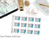 SNARK série: «Dame dans les rues et endormi dans les feuilles de» papier Planner Stickers