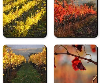 Autumn in the Vineyards - Part 1 (set of 4 coasters)