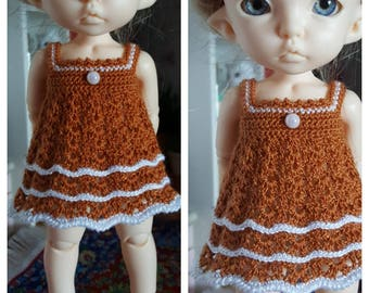 Crotched dress for  Pukifee (light brown)