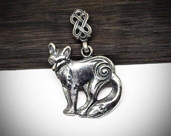 Fox necklace, Fox pendant, Fox jewelry, Foxes, Jewelry, Necklace, Pendant, Silver plated pendant, Wild animal, Fox charm, Metal jewelry