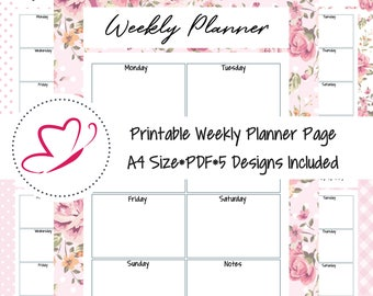 Printable Weekly Planner Pages, Printable Planner, A4 Printable Pages