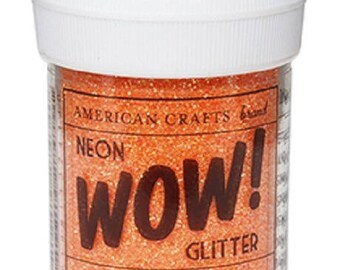 Glitter glitter WOW NEON - color CARROT