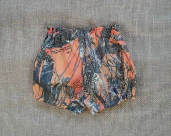 camo diaper cover.  NB to 12 months. (#17 TrueTimber orange -cotton in fabric selection) 23  camo colors to choose from