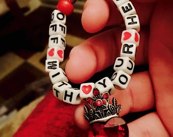 Off With Your Head Queen of Hearts Kandi Bracelet