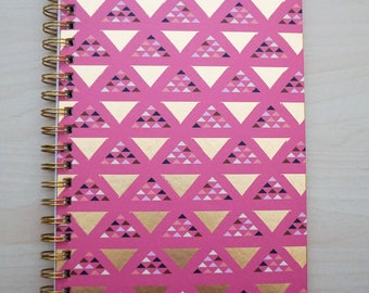 Journal - Foil Geometric Design - Spiral Bound by American Crafts