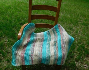 Day at the beach baby blanket