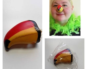 80s McDonalds Animal Nose Halloween Toucan 1987 by McDonalds