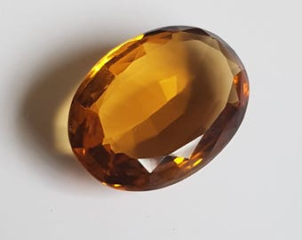 Huge 20ct Oval 24 x 17mm Faceted Citrine