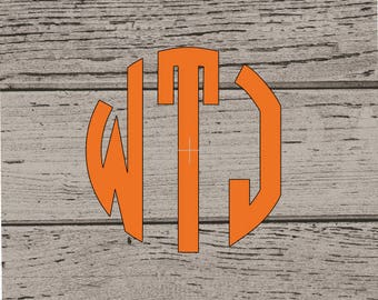 Monogram Decal, Personalized Decal, Monogram, Monogram Sticker, Monogram Vinyl, Monogram Vinyl Decal