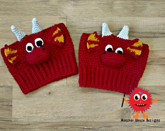 Dragon Boot Cuffs, Crochet Dragon Boot Cuffs, Dragon Leg Warmers, Crochet Leg Warmers, Red Dragon