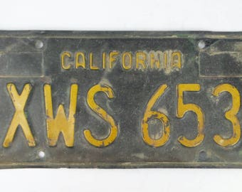Vtg California License Plate