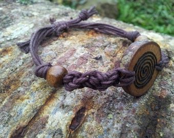 Celtic Spiral Bracelet, Oak Bracelet, Spiral jewelry, Witch jewelry, Pagan Jewelry, Wiccan Jewelry, Wood Jewelry, Goddess Spiral, Witchcraft