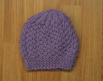 Purple Knit Hat