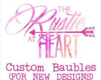 Custom Christmas baubles. New designs