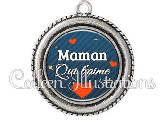 Cabochon pendant 25mm MOM that loves 103BLE01