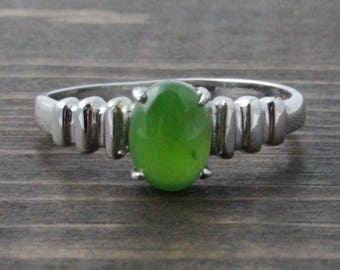 Canadian Nephrite Jade Ring, 0122 - Clearance