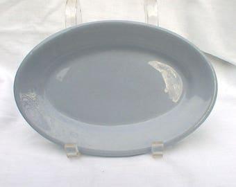 Buffalo China Blue Lune Platter Restaurant Ware Oval Dish