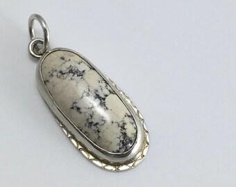 White jasper pendant