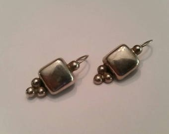 Vintage Sterling Silver Mexican Earrings Mexico 925