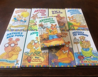 Vintage lot of Arthur VHS tapes Sealed New WGBH rare