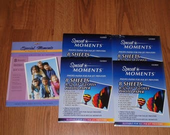 NIP Special Moments 5 Packs 40 Sheets 8.5 x 11 Glossy Photo Paper, Heavy 10Mil