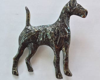 Sterling Vintage Dog Pin Mexico 925 Airedale Brooch