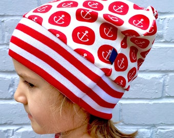 READY to SHIP Anchors slouchy beanie, baby beanie, baby clothes, slouchy beanie, anchors hat,  organic baby clothes, baby gift, newborn,