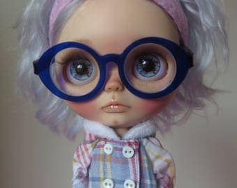 """RESERVED-OOAK custom blythe doll-art doll """"Andere"""" with mohair reroot by Xeiderdolls"""