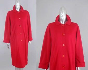 vintage red wool coat | vintage 70s wool coat | vintage 70s coat