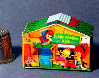 Liddle Kiddles Klub House  -  Dollhouse Miniature - 1:12 scale - 1960s Liddle Kiddles Diorama or 1960s Dollhouse Accessory  girl nursery toy